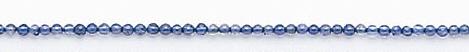 Design 6583: blue iolite round beads