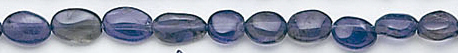 Design 6585: blue iolite oval beads