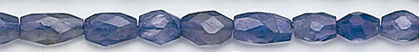 Design 6589: blue iolite faceted, nuggets, oval beads