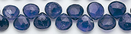 Design 6591: blue iolite briolettes beads