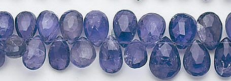 Design 6593: blue iolite briolettes beads