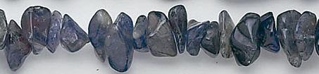 Design 6595: blue iolite chips beads