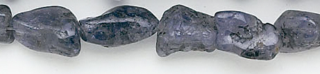 Design 6596: blue iolite nuggets beads