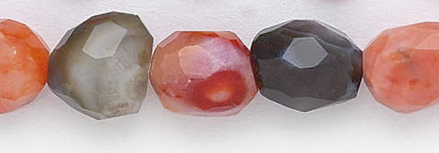 Design 6611: brown botswana agate faceted, nuggets beads