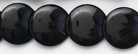 Design 6618: black black onyx coin beads