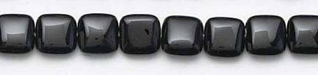 Design 6619: black black onyx square beads