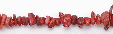 Design 6632: red sponge coral chips beads