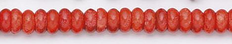 Design 6633: red sponge coral beads