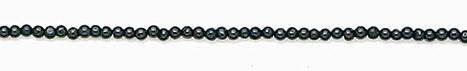 Design 6661: black black spinel round beads