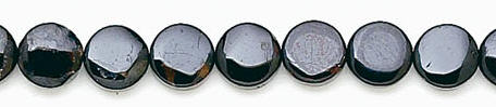 Design 6662: black black spinel coin beads