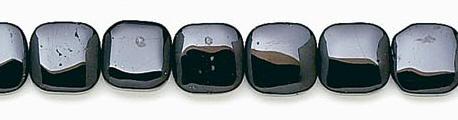 Design 6663: black black spinel square beads