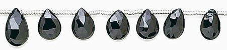 Design 6665: black black spinel faceted beads