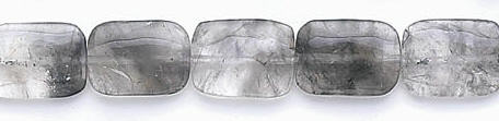 Design 6680: gray gray quartz rectangular beads