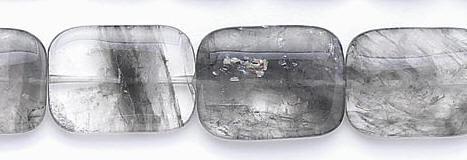 Design 6681: gray gray quartz beads
