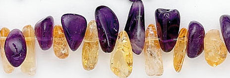 Design 6687: purple, yellow amethyst chips beads