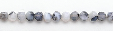 Design 6695: black, white dendrite agate beads