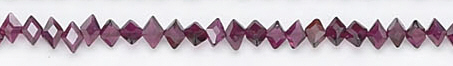 Design 6713: red garnet faceted beads
