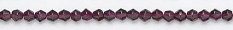Design 6714: red garnet beads