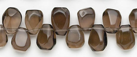 Design 6724: brown, gray smoky quartz beads