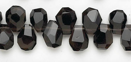 Design 6725: brown, gray smoky quartz faceted beads