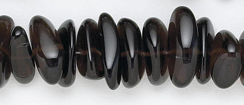 Design 6737: brown, gray smoky quartz nuggets beads