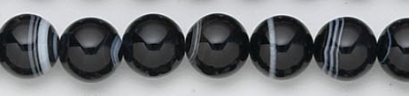 Design 6738: black, white banded onyx beads