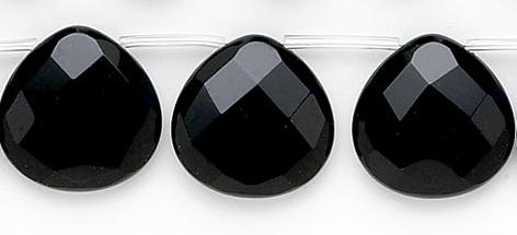 Design 6754: black black onyx faceted beads