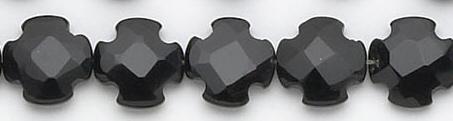 Design 6756: black black onyx faceted, square beads