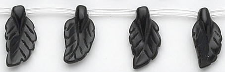 Design 6757: black black onyx careved beads