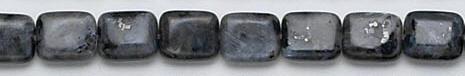 Design 6769: black, multi labradorite beads