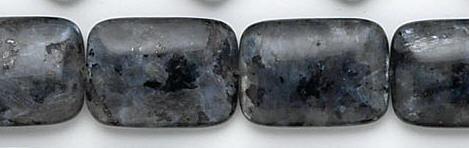 Design 6773: black, multi labradorite beads