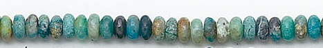 Design 6815: blue, green, brown chrysocolla heishi beads