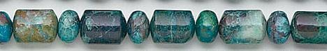 Design 6819: blue, green, brown chrysocolla beads