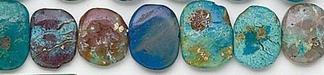 Design 6820: blue, green, brown chrysocolla beads