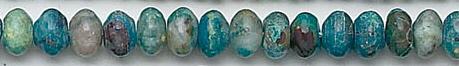Design 6821: blue, green, brown chrysocolla beads
