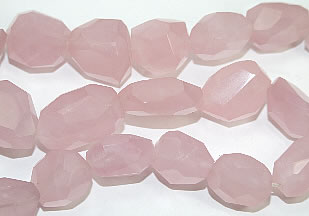 Design 6834: pink rose quartz faceted beads