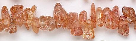 Design 6943: brown, orange crystal beads