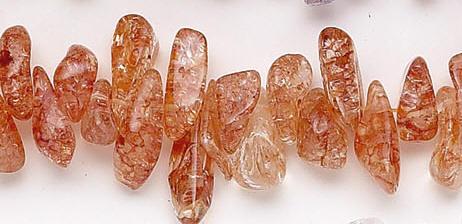 Design 6945: brown, orange crystal beads