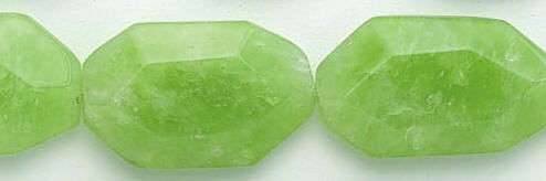 Design 6950: green jade nuggets beads