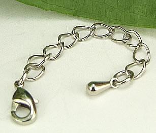 Design 6973: gray silver tear-drop beads