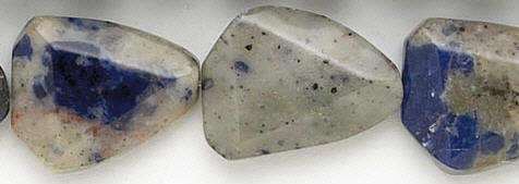 Design 7003: blue, white sodalite nuggets beads