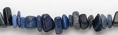 Design 7007: blue sodalite chips beads