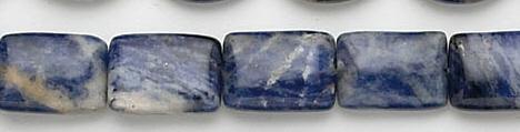 Design 7008: blue sodalite rectangular beads