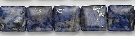 Design 7009: blue sodalite square beads