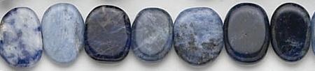 Design 7011: blue sodalite coin beads