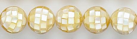 Design 7023: white shell beads