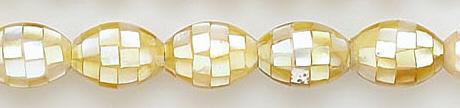 Design 7024: white shell beads