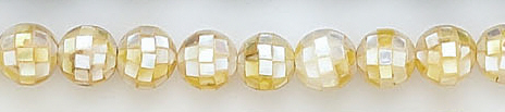 Design 7025: white shell beads