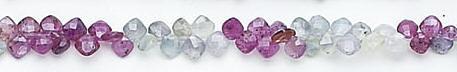 Design 7038: multi sapphire briolettes beads