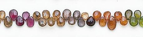 Design 7041: multi sapphire briolettes beads